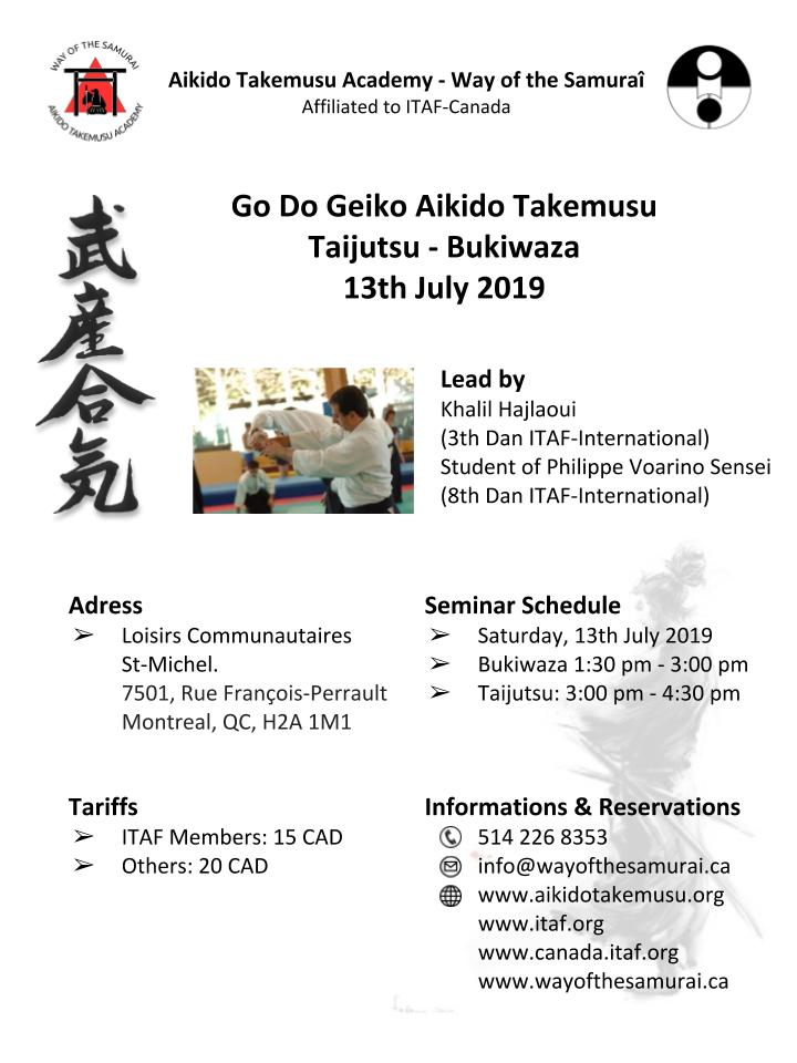 Seminar July 2019